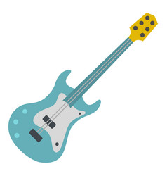 blue electric guitar icon isolated vector image