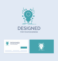 Bug insect spider virus app business logo glyph vector