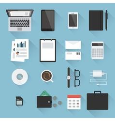 Business desktop objects vector