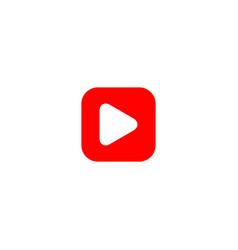 Button play logo template design vector