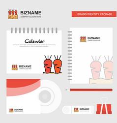 carrots farm logo calendar template cd cover vector image