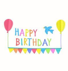 children s birthday congratulation vector image