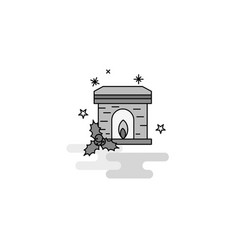 chimney web icon flat line filled gray icon vector image