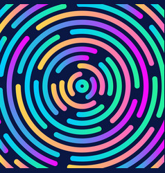 circular background in 80s style vector image