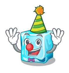 Clown ice cubes on the cartoon funny vector