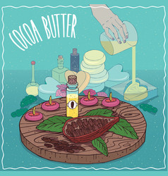cocoa butter oil used for soap making vector image