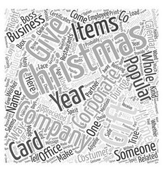 Corporate christmas gift Word Cloud Concept vector
