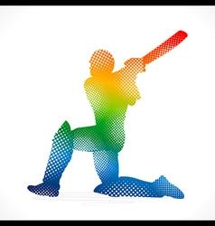 Cricket design by halftone concept vector