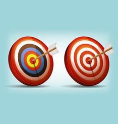 Dart target with arrow vector