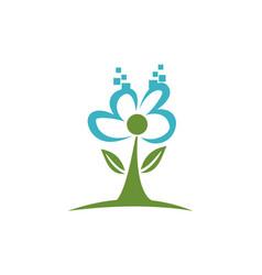 Digital landscape design logo vector