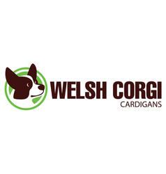 Dog head of welsh corgi breed vector