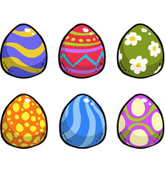 Doodle easter eggs vector