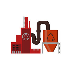 ecology concept industry factory building vector image
