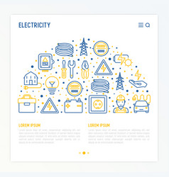 electricity concept in half circle vector image
