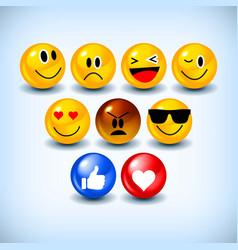 emoji feeling faces vector image