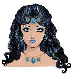 Fantasy blue haired girl2 vector