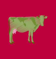 flat shading style icon cow vector image