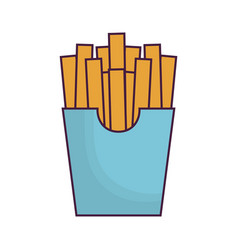 French fries box icon vector