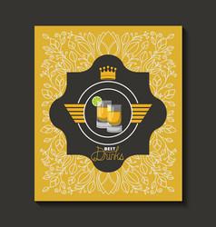fresh beer elegant frame vector image