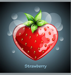 Fresh strawberry on colorful background vector