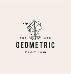 geometric tree hipster vintage logo icon vector image