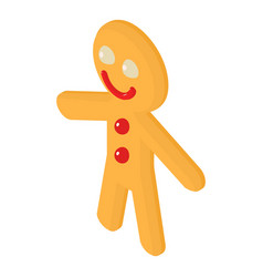 gingerbread man icon isometric 3d style vector image