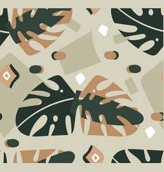 hand drawn abstract modern graphic tropical vector image