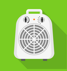 Home fan heater icon flat style vector