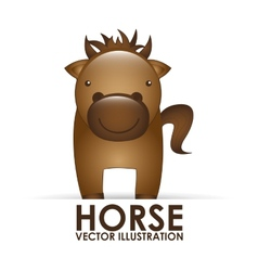 horse cute vector image