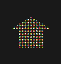 House in color dots vector image