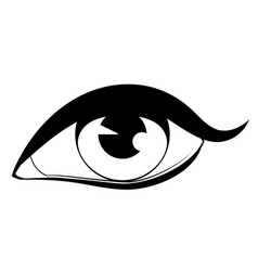 Human eye in black and white vector