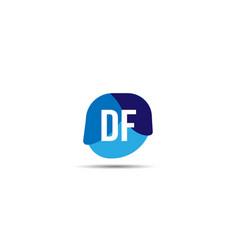 initial letter df logo template design vector image