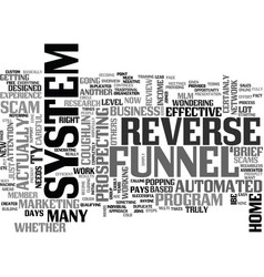 is the reverse funnel system a scam or not text vector image