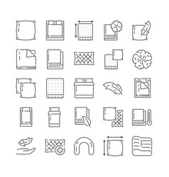 Large set icons related to household linens vector