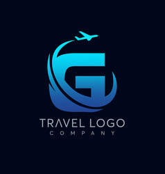 Letter g tour and travel logo design vector