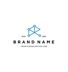 Letter r tech logo design vector