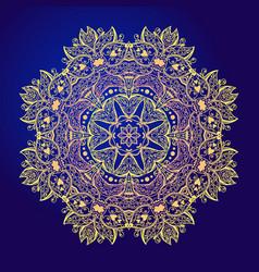 Mandala floral vintage round amulet tattoo vector