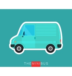 Mini van isolated vector image