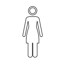 monochrome contour pictogram of woman vector image