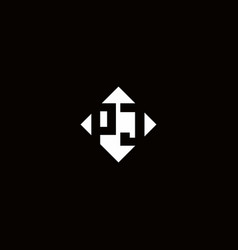 Monogram logo design with diamond square shape vector
