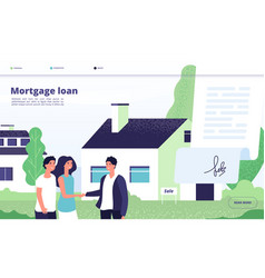 Mortgage loan people borrower buy home property vector