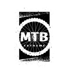 mtb extreme on background wheel banner vector image