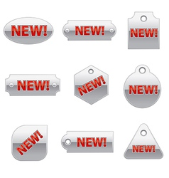 new metal tags vector image