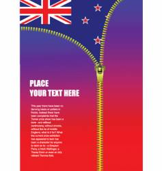New Zealand zipper flag vector