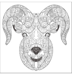 ornamental head goat or ram vector image