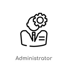 Outline administrator icon isolated black simple vector