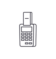 payment by terminal line icon concept payment by vector image