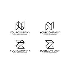 Perspective logo design editable vector