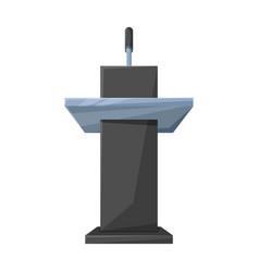 podium rostrum iconcartoon icon vector image