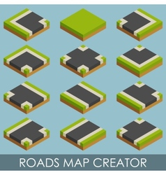 Roads map creator Isometric vector image